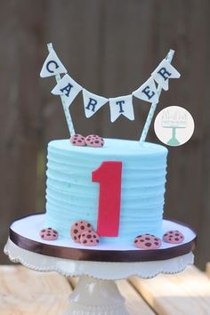 Milk and cookies themed smash cake boy birthday party Cookie Cake Birthday, Custom Birthday Cakes, Themed Birthday Cakes, Boy Birthday Parties, 2nd Birthday, Birthday Ideas, Custom Cakes, Baby Boy Cakes, Cakes For Boys
