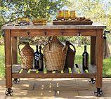 trendy kitchen island on wheels diy pottery barn Outdoor Potting Bench, Potting Tables, Island On Wheels, Thrifty Decor Chick, Serving Table, Outdoor Serving Cart, Outdoor Bar Cart, Outdoor Buffet, Outdoor Living