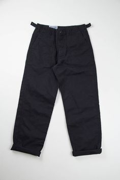 Black Bedford Cord Washed Fatigue Pant | Engineered Garments Workaday