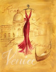 Evening Elegance #Venice  #illustration #fashion
