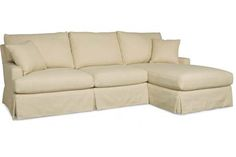 Sectional option; this one's a little small-scale with a chaise so not as much seating
