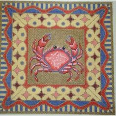 Red Crab with Border