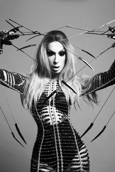 I am...GAGGED. SICKENED. STUNNED. LIVING. ALL OF THE ABOVE. YAAAAAS! Alaska Thunderfuck serving Edward Scissorhand couture realness!