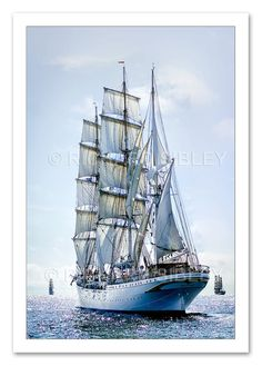 Sailing Ship Statsraad Lehmkuhl by TallShipsGallery on Etsy, £35.00