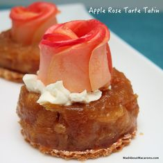 Apple Rose Tarte Tatin - a perfect Valentine dessert that can be prepared in advance!