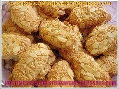 ΕΡΓΟΛΑΒΟΙ ΜΕ ΦΙΛΕ ΑΜΥΓΔΑΛΟΥ!!!   Νόστιμες Συνταγές της Γωγώς Greek Desserts, Greek Recipes, Cauliflower, Biscuits, Muffin, Cooking Recipes, Sweets, Cookies, Baking