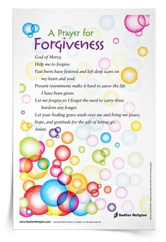 Download complimentary Prayer for Forgiveness prayer cards to use at home or in your parish!