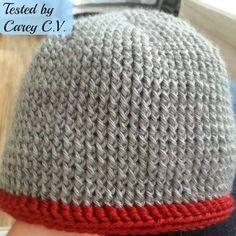 My Hobby Is Crochet: Men's Chunky Hat - Free crochet pattern: written instructions, chart and video tutorial