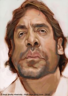 Javier Bardem  Artist: Thomas Lebeltel  website: http://theb.over-blog.com/