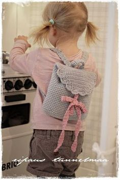 Crochet Kids Backpack Pattern Children 70 Ideas For 2019 Crochet Girls, Love Crochet, Crochet For Kids, Beautiful Crochet, Diy Crochet, Crochet Crafts, Crochet Toys, Crochet Ideas, Crochet Tutorials