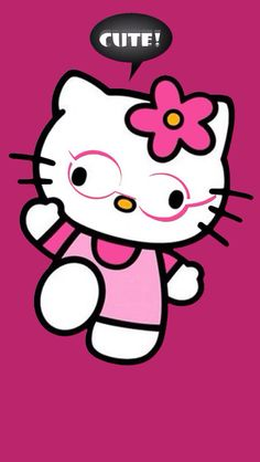 HELLO KITTY IPHONE WALLPAPER, BACKGROUND