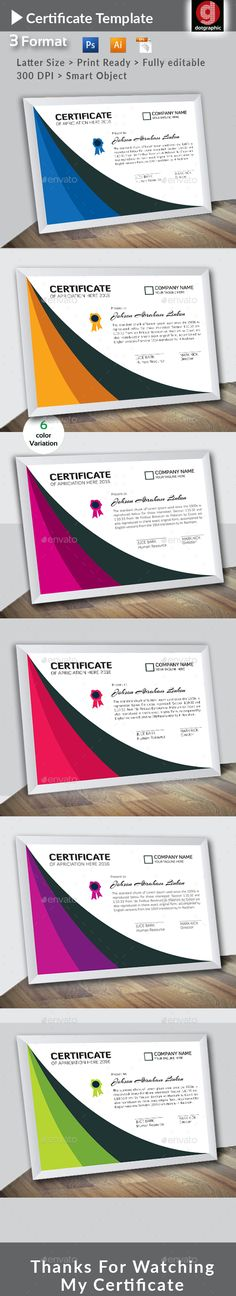 Certificate A4 paper, Paper size and Adobe photoshop - Corporate Certificate Template