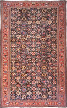 Antique Sultanabad Persian Carpet 3019 Detail/Large View - By Nazmiyal