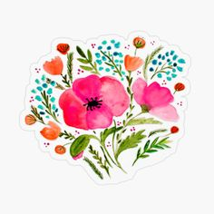 Framed Art Prints, Painting Prints, Canvas Prints, Poppy Bouquet, Watercolor Poppies, Affordable Wall Art, Rustic Bouquet, Wall Art For Sale, Transparent Stickers