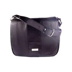 Cartera de cuero super ondera - Esquel negra - VESKI Chile  veski.cl  black leather handbag purse