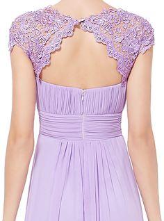 Lilac Purple Lacey Evening Dress HE09993QP