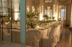 A romantic wedding dinner