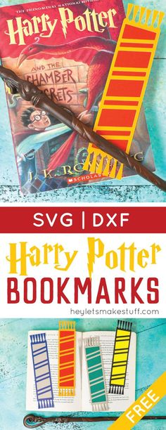Declare your Hogwarts House with these fun cut paper bookmarks designed to look like Harry Potter and his friends' (and enemies'!) scarves!