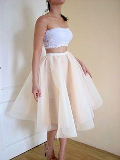 nowa sukienka koronkowa crop top tiul (5566673484) - Allegro.pl - Więcej niż aukcje.
