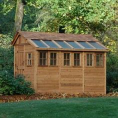 Sunshed 8 Ft. X 12 Ft. Western Red Cedar Garden Shed