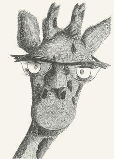 Mme Giraffe  #animal#glasses#madame#aristocratic#bigeye by Leo Bellei.
