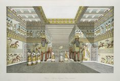 Hall in Assyrian palace, restored