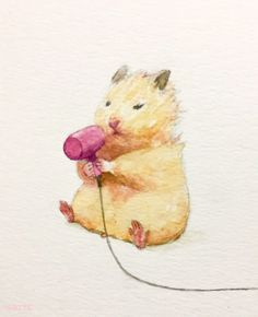 creative campaign Japanese Artist Gotte Depicts The Typical Life Of His Pet Hamster, Sukeroku. The Result Is Adorable Cute Animal Drawings, Cute Drawings, Art And Illustration, Illustrations, Japanese Hamster, Art Inspo, Art Mignon, Cute Hamsters, Cute Little Animals
