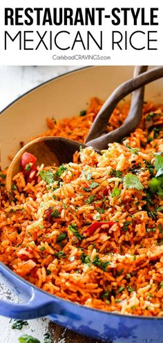 This easy Mexican Rice rivals any restaurant, is so easy to make at home and the perfect addicting side for all your Mexican dishes! Tips and tricks and customizable options included for Restaurant Style Mexican Rice! Mexican Rice Recipes, Mexican Rice Recipe Restaurant Style, Mexican Rice Dishes, Spanish Rice Recipes, Easy Rice Dishes, Easy Mexican Rice, Best Spanish Rice Recipe, Homemade Mexican Rice, Vegetarian Mexican Rice