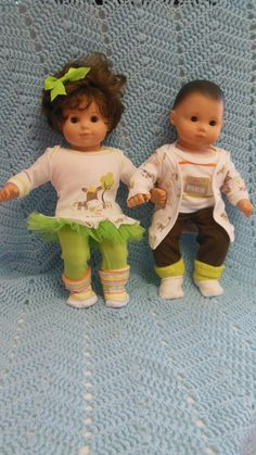 Debs WHITE Socks w//Orange Pumpkin Doll Clothes For Bitty Baby Boy or Girl Twin