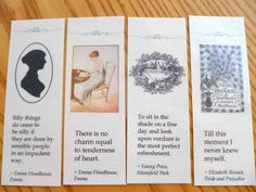 """There is no charm equal to tenderness of heart"" - DIY Jane Austen bookmarks"