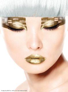 Eye Shadow Lips #Metallic#Gold  #sephoracolorwash