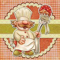 Trattoria Chef - The Paper Shelter, digital stamp, scrapbooking, crafts, dodles, cliparts & templates for all your needs.