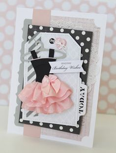Cute little paper dresses for Sky to make