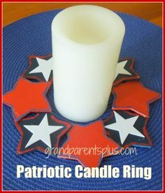 Patriotic Candle Ring - Memorial Day Craft