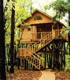 Treehouse Cottages, Eureka Springs, Arkansas, Ozarks offers Bungalow Treehouse with lodging for 2 in the trees. With jacuzzi and kitchenette, is better than a hotel and close to things to do in downtown Eureka Springs. Treehouse Cottages, Treehouse Hotel, Treehouse Ideas, Cabana, Arkansas Vacations, Eureka Springs Arkansas, Arkansas Usa, Cool Tree Houses, Tiny Houses