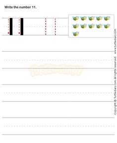 Number Writing Worksheet 11 - math Worksheets - preschool Worksheets