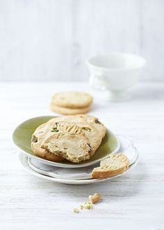 Pistachio-Orange Blossom Shortbread Cookies
