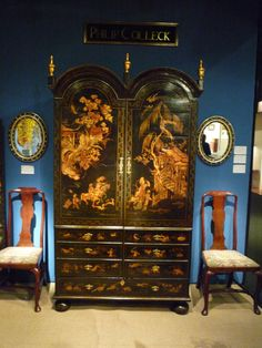 Queen Anne antique japanned wardrobe c.1700 | From a unique collection of antique and modern wardrobes and armoires at http://www.1stdibs.com/furniture/storage-case-pieces/wardrobes-armoires/