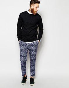 Enlarge ASOS Slim Fit Smart Cropped Pants in Print