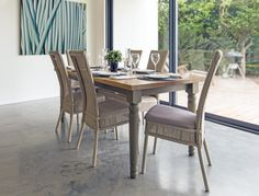 Cranford Lloyd Loom Dining Chairs - Furniture - available at Maycroft Lloyd Loom in any colour. Farrow & Ball, Little Greene Paint, Zoffany, Sanderson, Designers Guild, Dulux, Laura Ashley