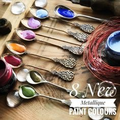 Eight new colors of my Art Alchemy Metallique Paints line are fully revealed. Golden Moss, Rustic Brown, Ice Queen, Royal Blue, Red Wine, Gold Amber, Romance Pink and Frozen Berries. Soon they will be available in stores! Yay! #finnabair #primamarketinginc #newrelease #winter2018 #newproducts #artalchemy #artalchemypaints #artalchemymetalliquepaints