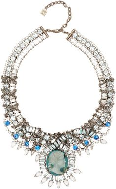 Love this: DANNIJO Blue Oxidised Silver Louise Cameo Necklace @Lyst