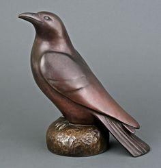 common crow, Georgia Gerber Bronze Sculptures   Gallery Mack Art Connections, Seattle, WA
