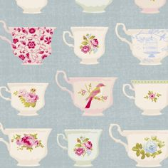 Tilda Christmas Play Fabric- Cup Blue
