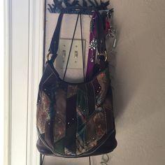 Multi color patch Fossil purse. Multi color patch winter Fossil purse. Fossil Bags Shoulder Bags