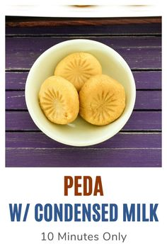 This instant version of peda are made with condensed milk. Learn how to make milk peda or doodh peda at home with this easy, step by step method. This popular Indian sweet is made during festival like Diwali or on special occasions. #sweets #diwali #condensedmilk #indiandessert Indian Desserts, Indian Food Recipes, Peda Recipe, Cardamom Powder, Condensed Milk, Something Sweet, 3 Ingredients, Diwali, Special Occasion