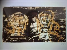 Henry Moore, Headstone,Lithograph Three Colour, size 8x4.