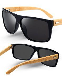 9bf4542cb09ec Kit com 2 Óculos de Sol Wood Icewolf 8204 - Preto Mercury e Marrom - Compre