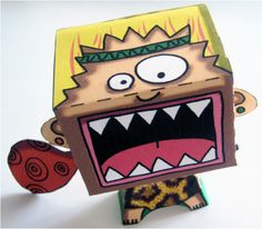 Cri primal, free dy paper toy by CocoFlower  www.cocoflower.net   #paper #toy #free #diy