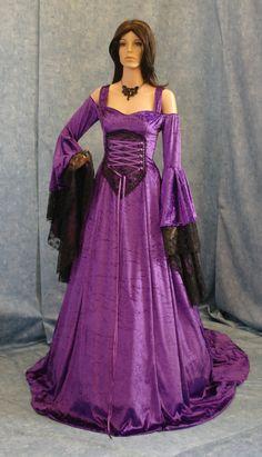 Renaissance medieval handfasting  wedding fantasy celtic dress custom made. $315.00, via Etsy.
